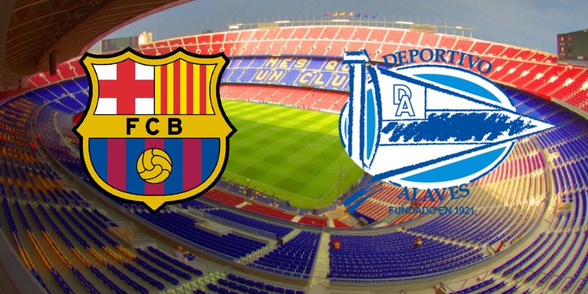 صورة البث المباشر لمباراة برشلونة وديبورتيفو ألافيس