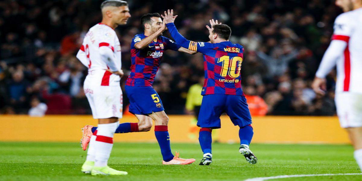 """صورة برشلونة يعبر ريال مايوركا بخماسية وميسي يوقع على""""هاتريك"""""""