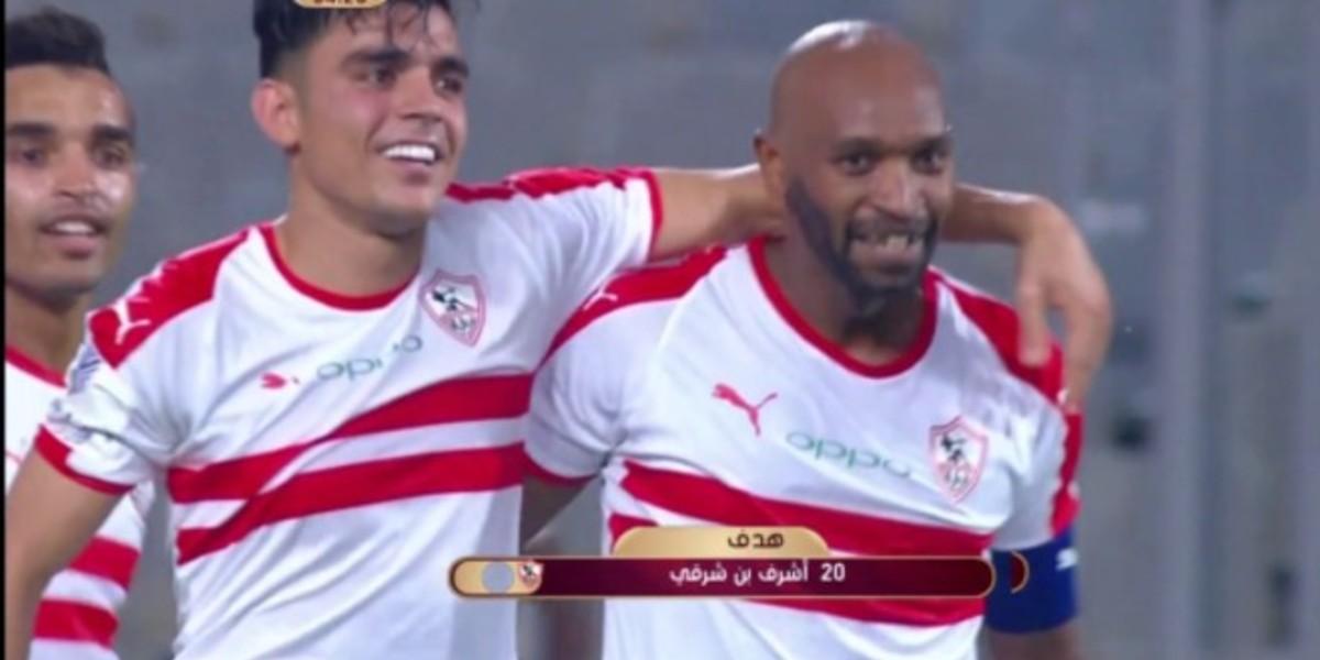 صورة بنشرقي يتألق بثنائية ويقود الزمالك لدور 16 من كأس مصر-فيديو