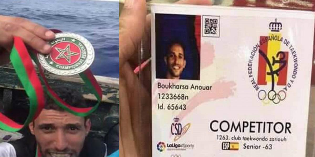 """صورة بعدما هاجر عبر """"قوارب الموت"""".. بوخرصة يشارك في بطولة إسبانيا للتيكواندو"""