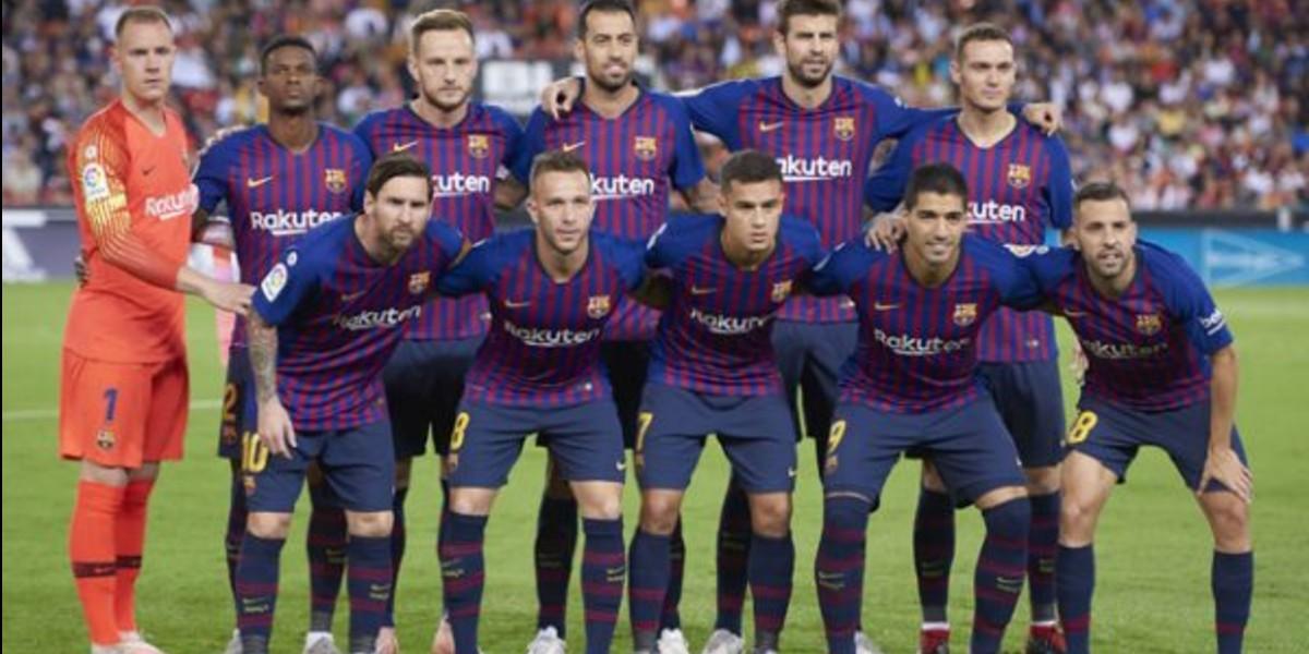 صورة لائحة برشلونة المستدعاة لكأس السوبر الإسباني