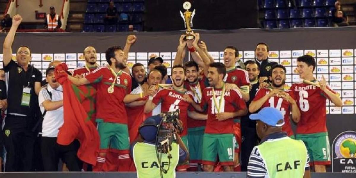 """صورة قرعة حارقة لأسود """"الفوتسال"""" في كأس إفريقيا المقامة بالعيون"""