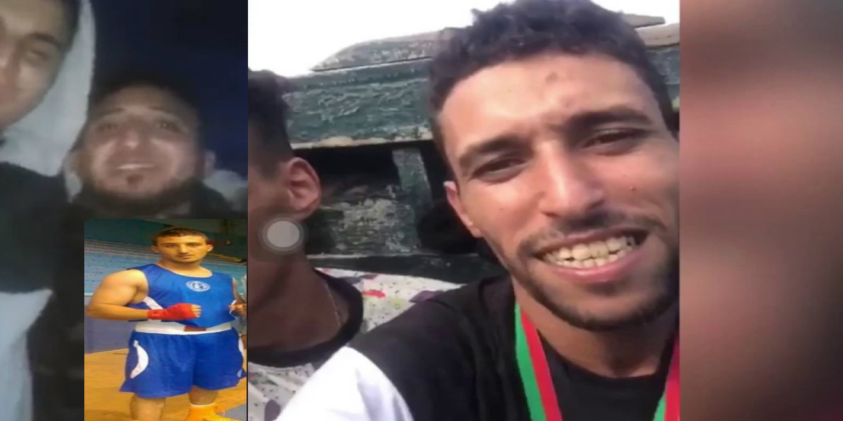 """صورة بعد بوخرصة.. ملاكم مغربي يهاجر عبر """"قوارب الموت"""""""