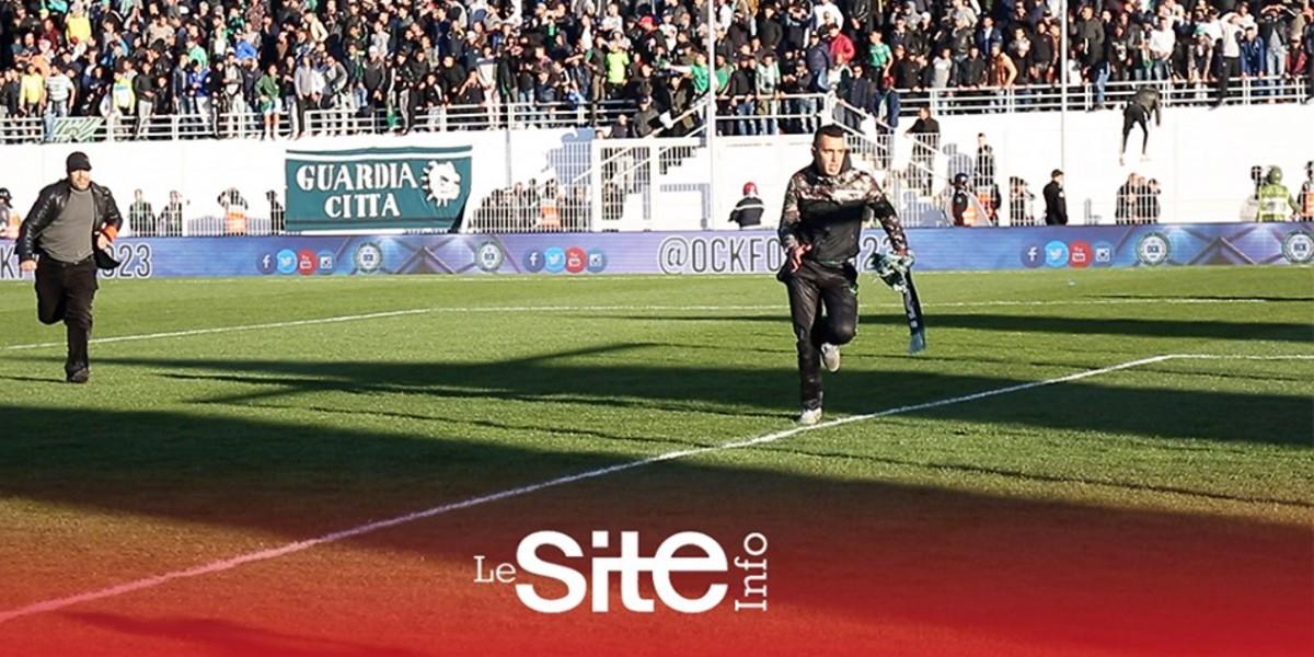 صورة فيديو-شاهد لحظة هجوم جماهير أولمبيك خريبكة على لاعبيها في مباراة الوداد
