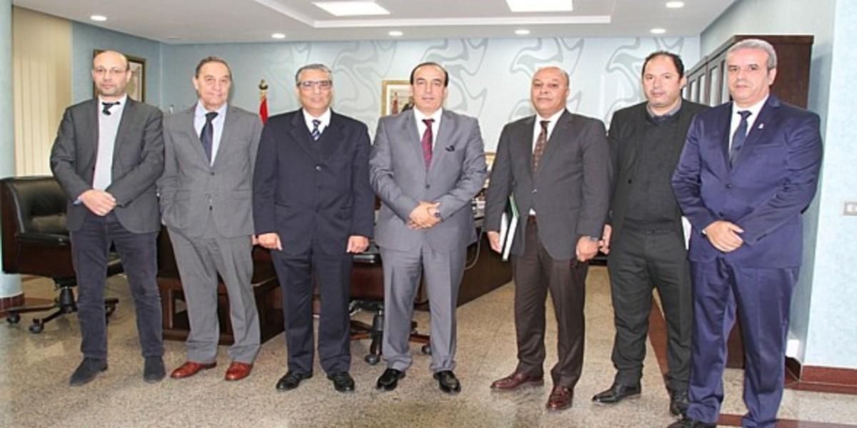 صورة عبيابة يستقبل أعضاء اللجنة المؤقتة المشرفة على تدبير شؤون جامعة السلة