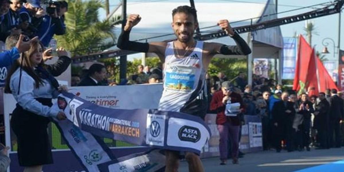 صورة لقواحي يفوز بلقب الدورة 31 لماراطون مراكش الدولي
