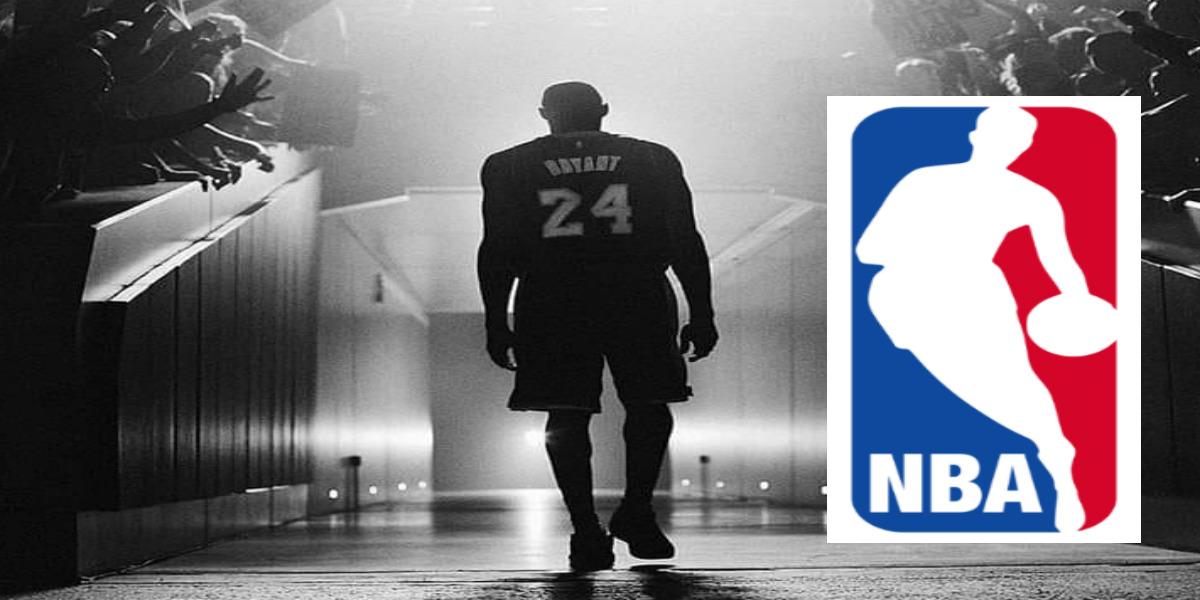 """صورة مطالب بوضع ظل براينت في شعار """"NBA"""""""