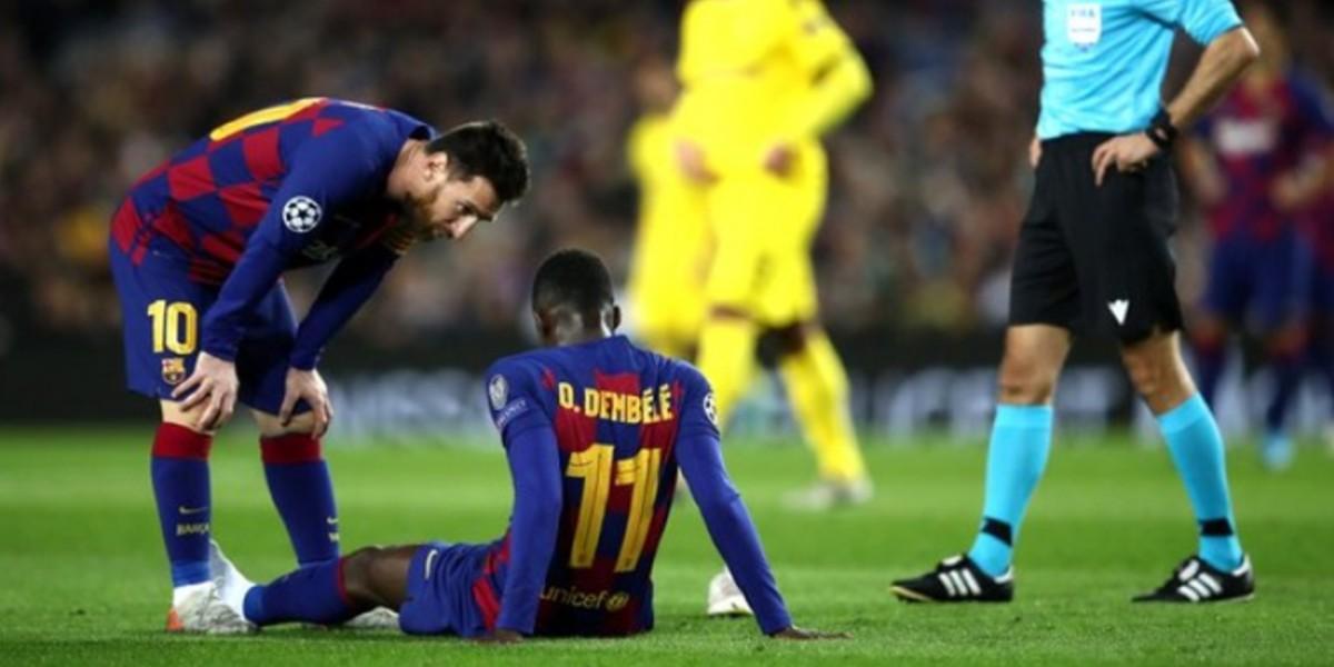 صورة ديمبلي يعود إلى برشلونة