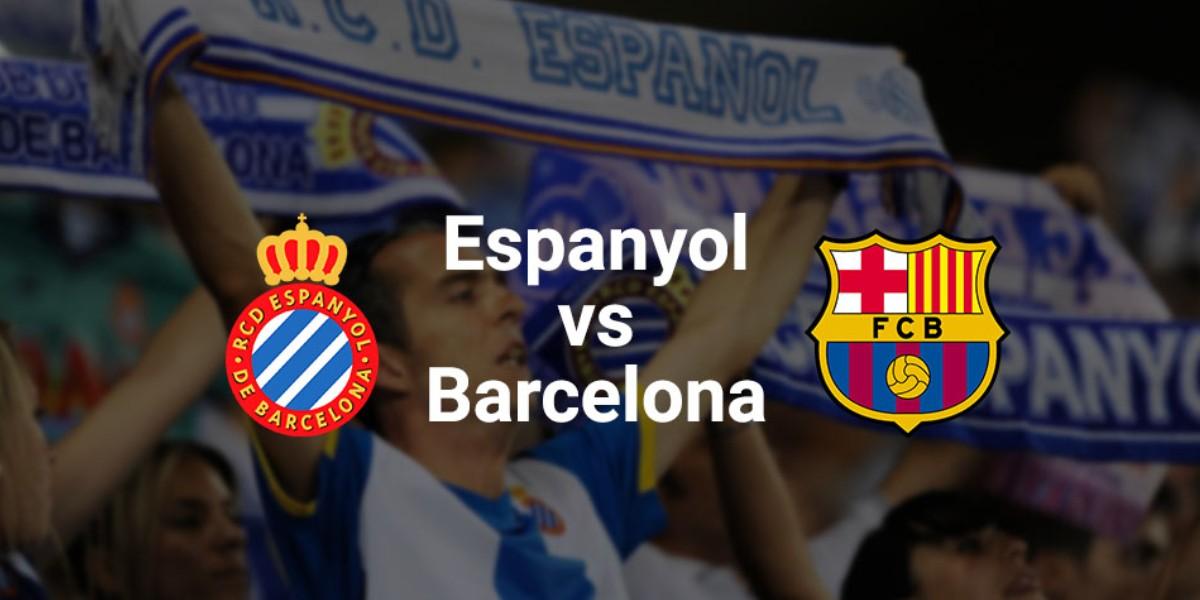 صورة البث المباشر لمباراة إسبانيول وبرشلونة