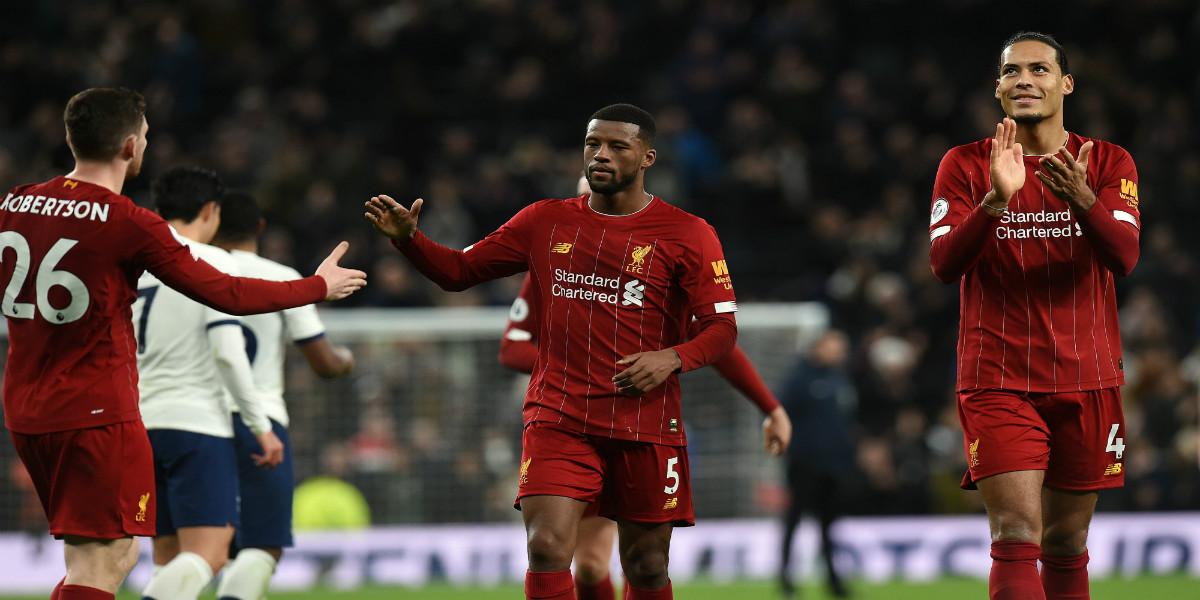 صورة بعد فوزه على توتنهام.. ليفربول يواصل تحطيم الأرقام القياسية في الدوري الإنجليزي