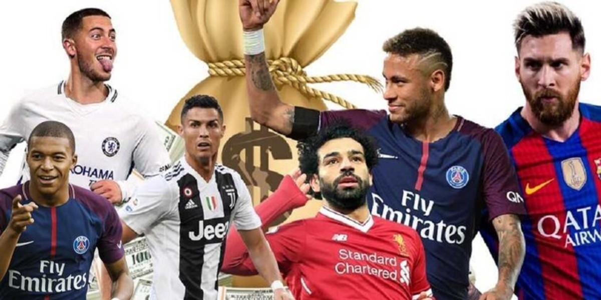 صورة قائمة أغلى لاعبي كرة القدم في العالم