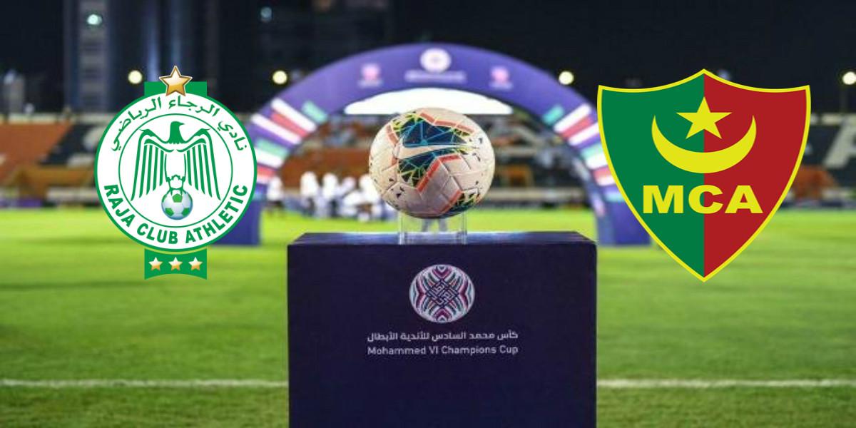 صورة الموعد والقناة الناقلة للقاء الرجاء ومولودية الجزائر في البطولة العربية