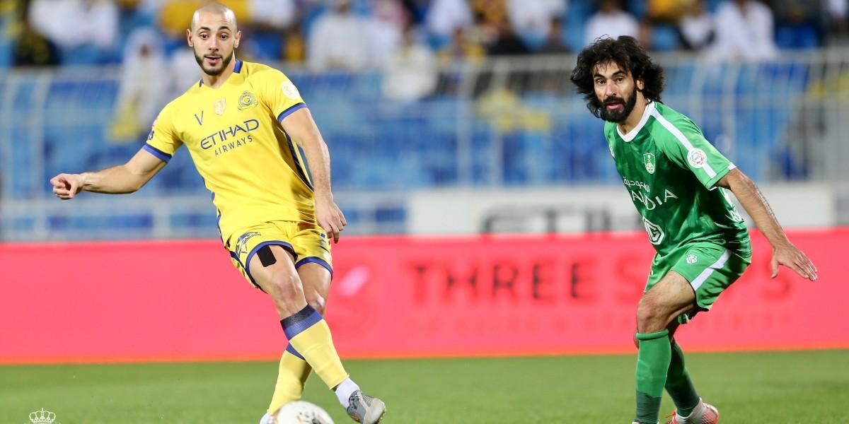 صورة أمرابط يتغنى بذكرى تتويج النصر بالدوري السعودي الموسم الماضي