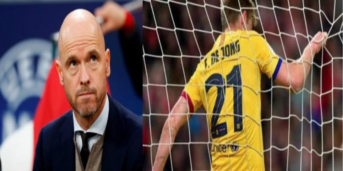 """صورة مدرب أياكس منتقدا مركز دي يونغ في برشلونة: """"لا ينبغي أن يكون هدافا"""""""