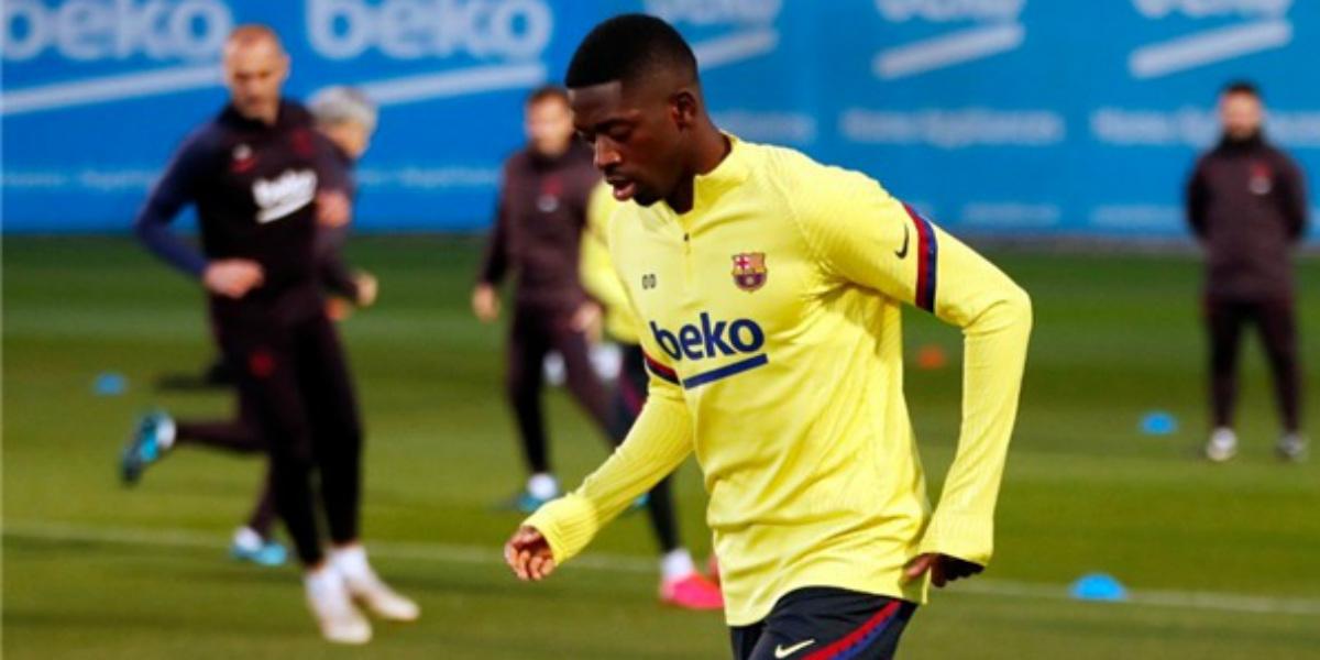 صورة رسميا.. نهاية موسم ديمبلي مع برشلونة