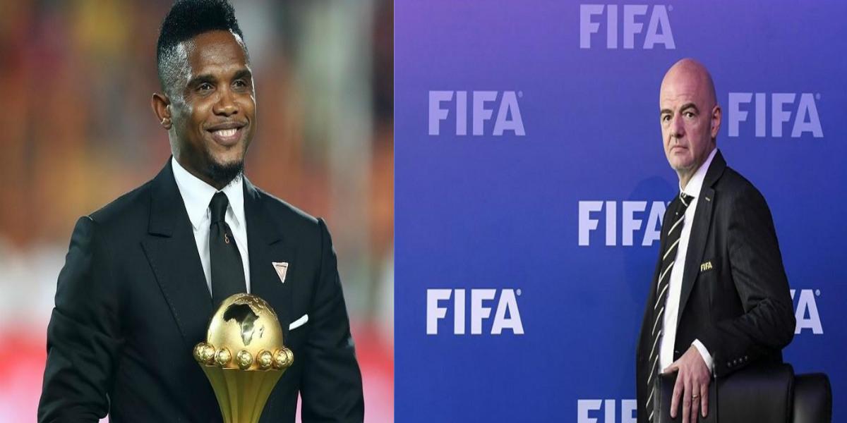 """صورة إيتو مهاجما تصريحات إنفانتينو: """"كأس أمم إفريقيا كل أربع سنوات مقترح من أجل الأوروبيين"""""""