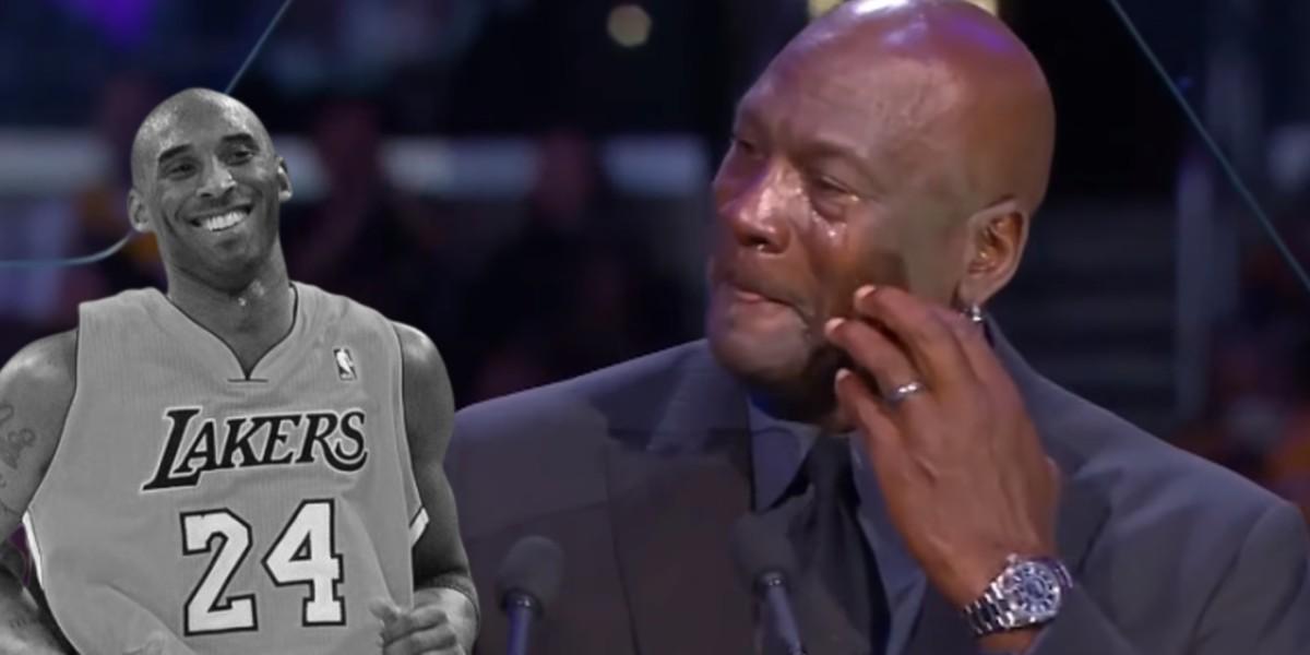 صورة أسطورة كرة السلة الأمريكية يجهش بالبكاء في تأبين كوبي براينت