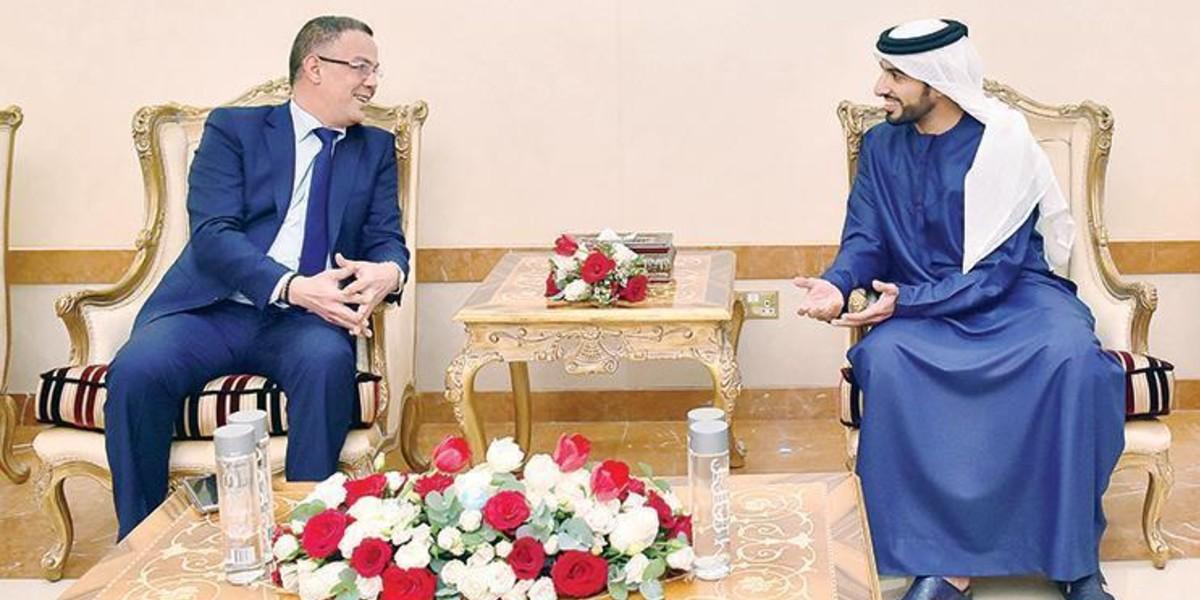 صورة لقجع يجتمع برئيس الاتحاد الإماراتي لتعزيز التعاون الكروي بين المغرب والإمارات
