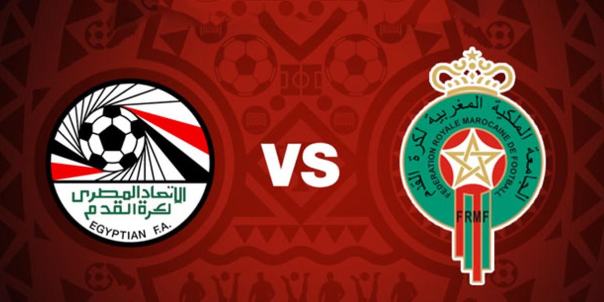 صورة البث المباشر لمباراة المغرب ومصر