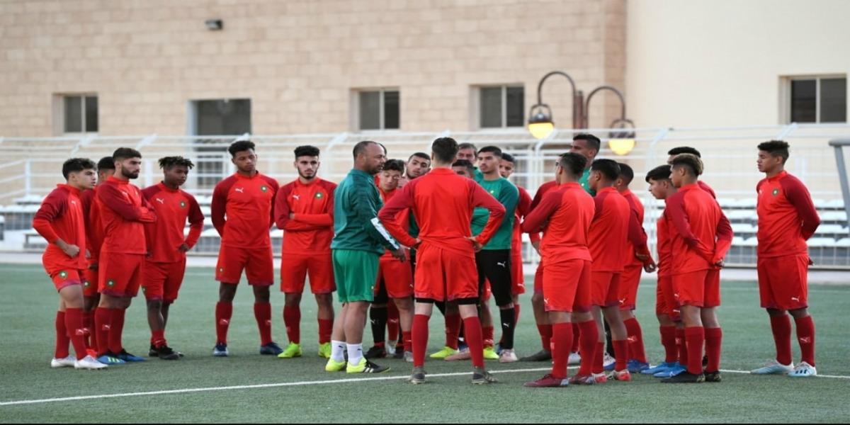 صورة المنتخب الوطني لأقل من 20 سنة يخوض أول حصة تدريبية بالسعودية
