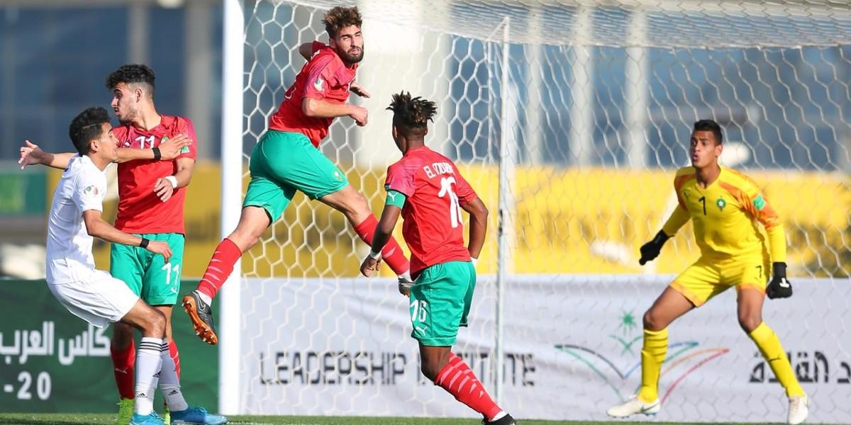 """صورة لغزال يقود """"الأشبال"""" إلى نصف نهائي كأس العرب تحت 20 سنة"""