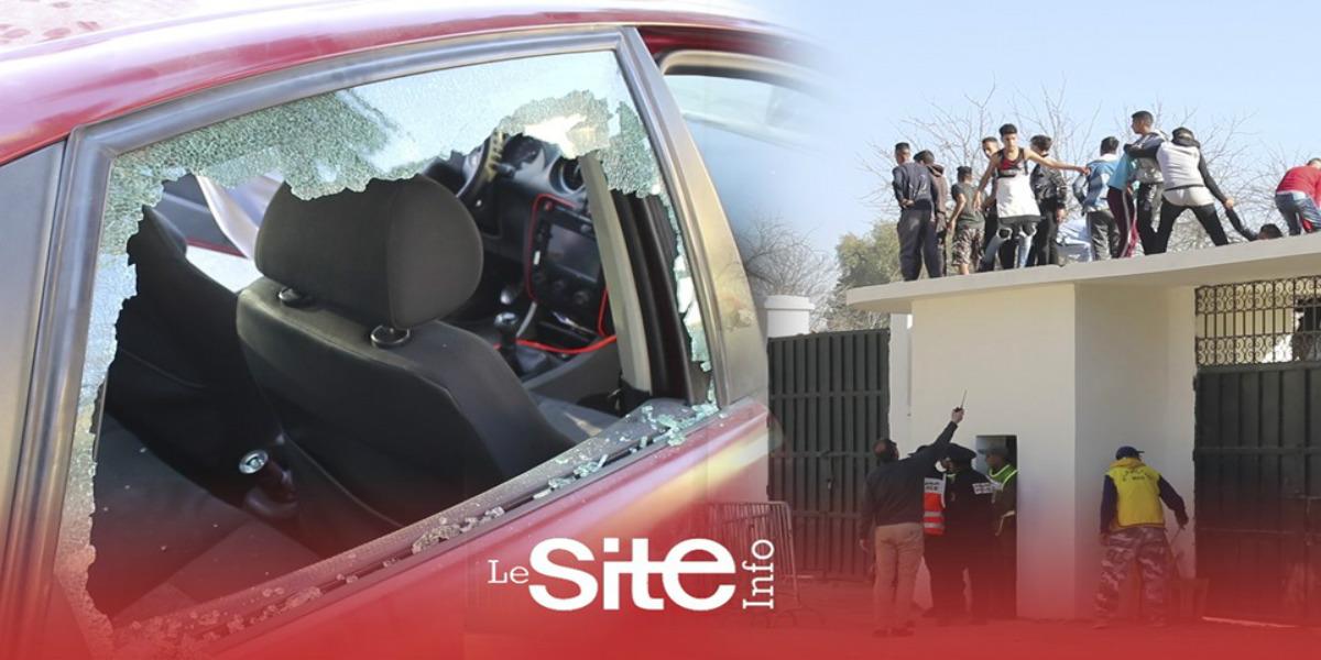 صورة شغب وخسائر.. سوء التنظيم يمنع الجماهير الفاسية من ولوج ملعب الحسن الثاني