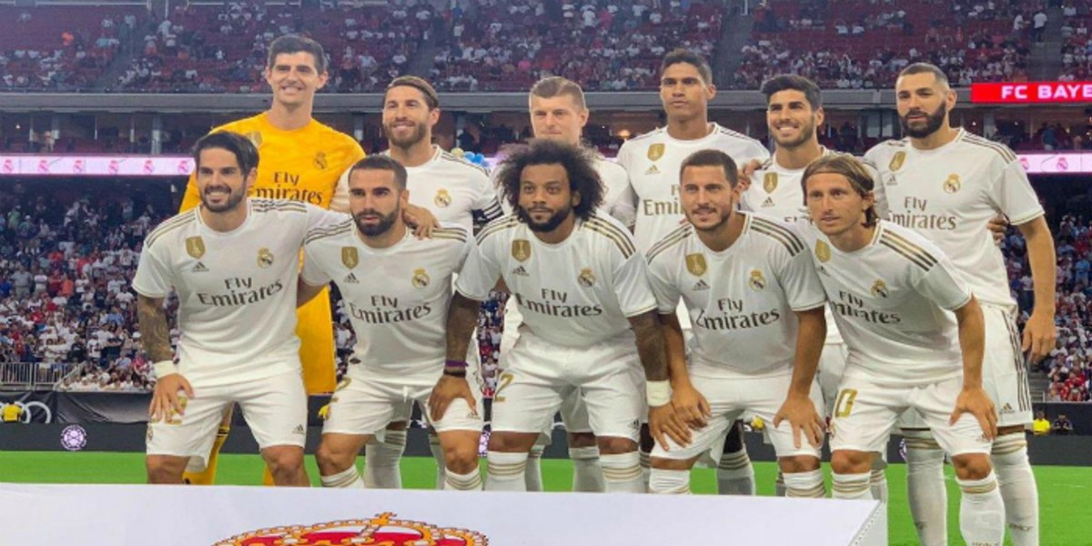 صورة التشكيلة الرسمية لريال مدريد في مباراة الكلاسيكو