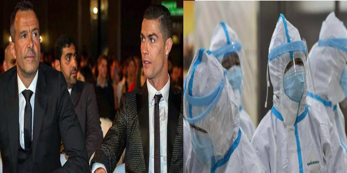 """صورة رونالدو ووكيل أعمال يقدمان مساعدات من أجل التصدي لفيروس """"كورونا"""""""