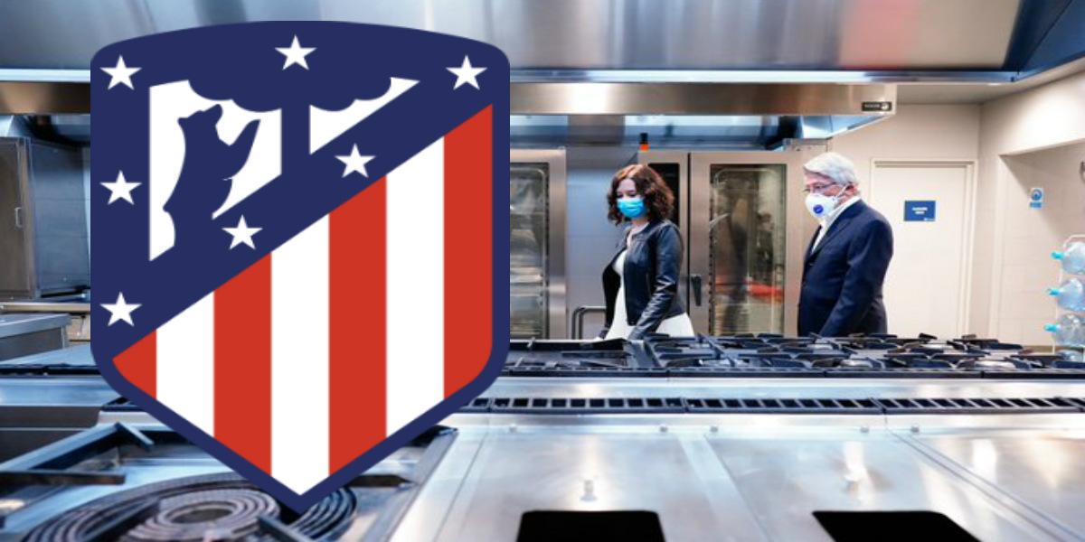 """صورة أتليتيكو مدريد يُعير مطبخ ملعبه لمساعدة المتضررين من أزمة """"كورونا"""""""