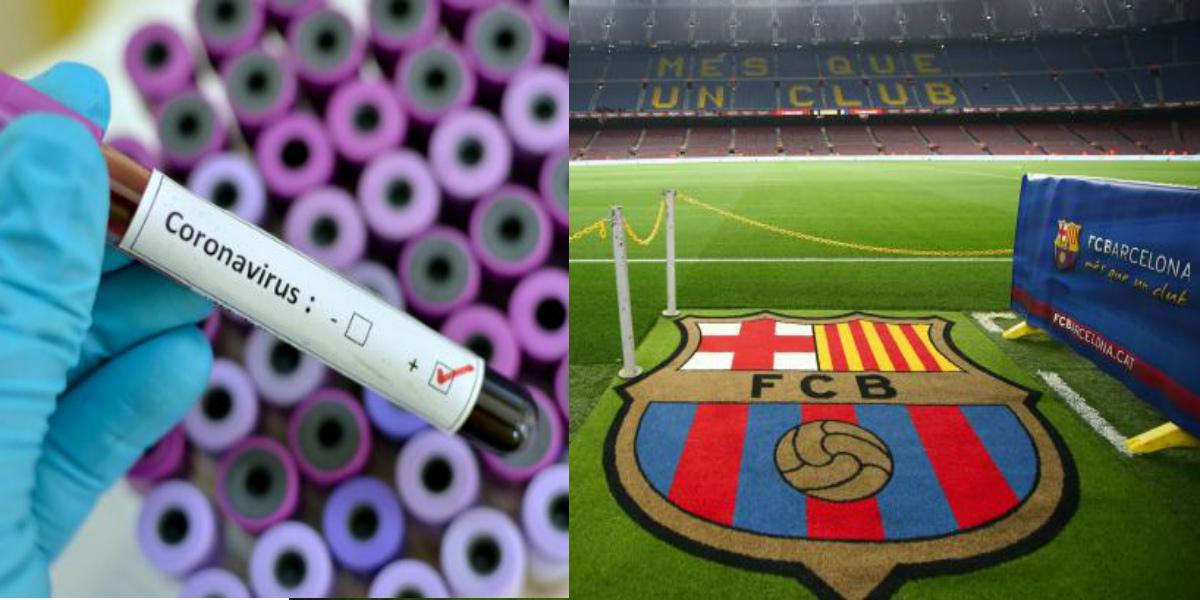 """صورة وصول أول دفعة من لاعبي برشلونة لإجراء اختبارات فيروس """"كورونا"""""""