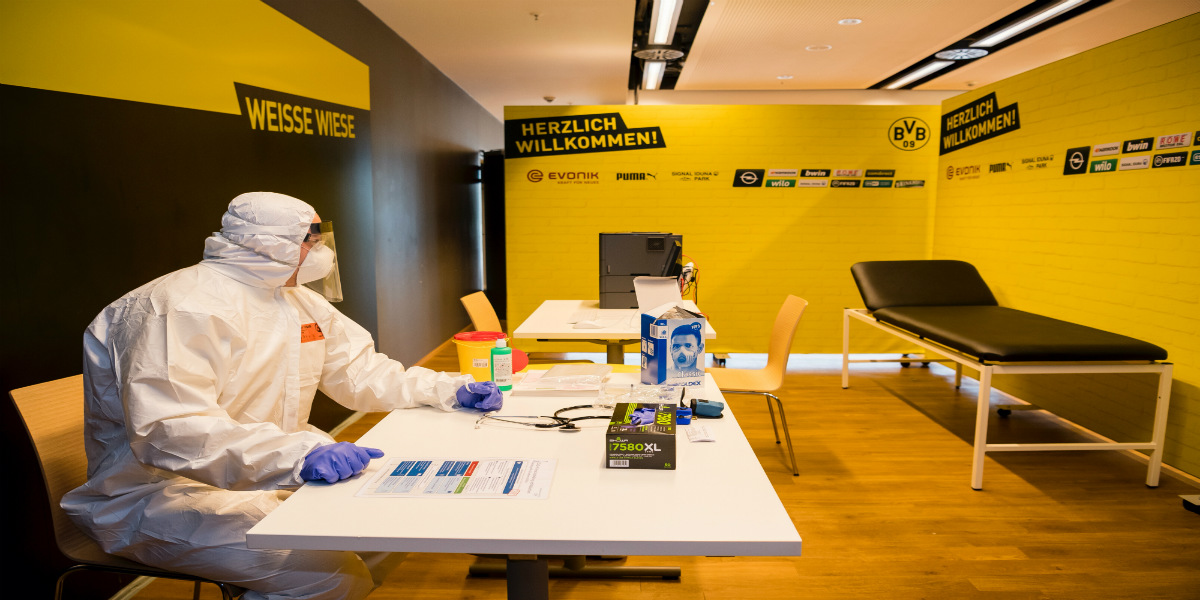 """صورة ملعب بروسيا دورتموند يصبح مركزا لعلاج المصابين بفيروس """"كورونا"""""""
