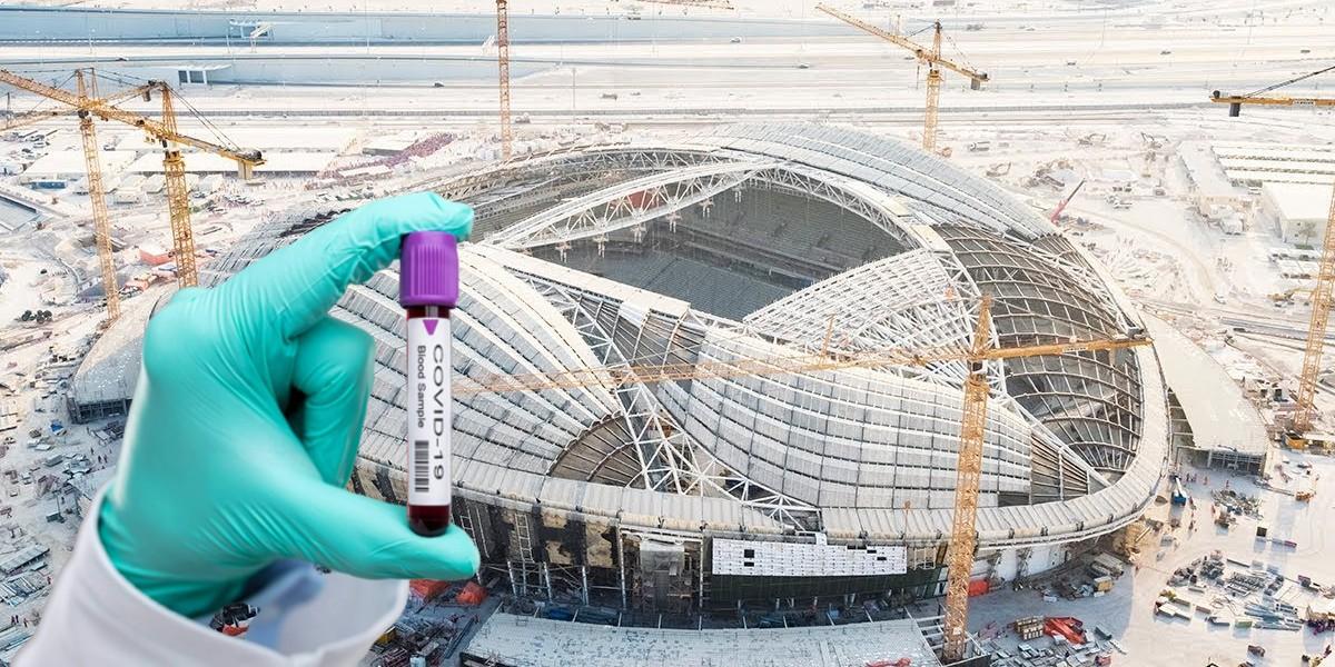 """صورة """"كورونا"""" يصيب عمال مونديال قطر 2022"""