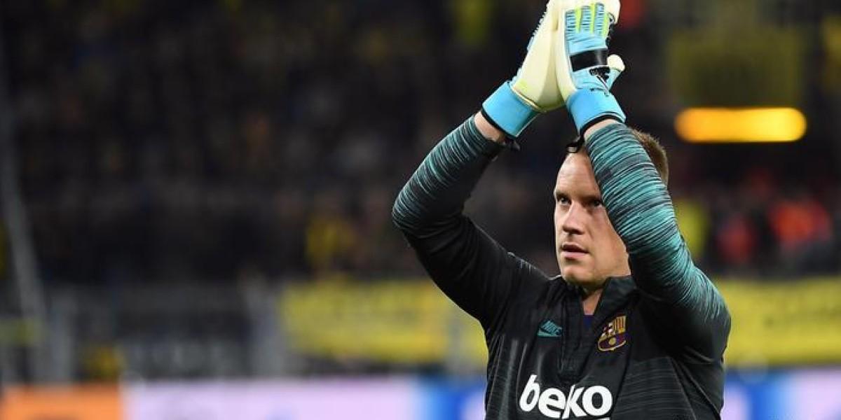 صورة برشلونة يتوصل لاتفاق مع شتيغن لتمديد عقده مع الفريق