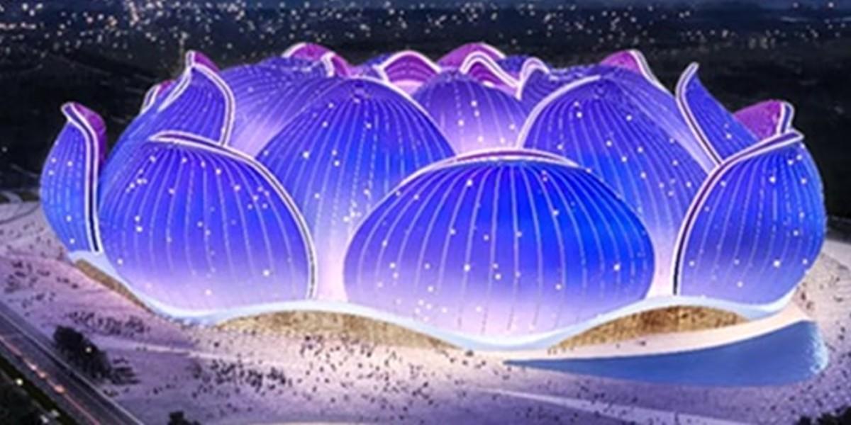 صورة في عز أزمة كورونا.. الصين تبدأ العمل في بناء ملعب بسعة 100 ألف متفرج