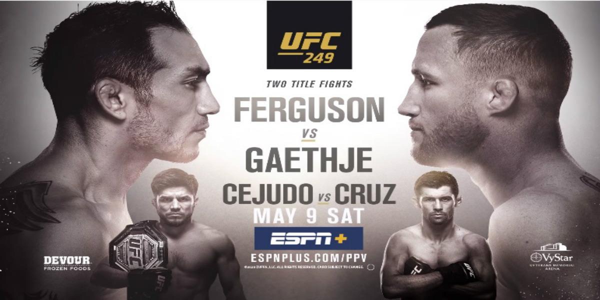 صورة البث المباشر لنزال توني فيرغسون ضد جاستن غيتجي UFC 249