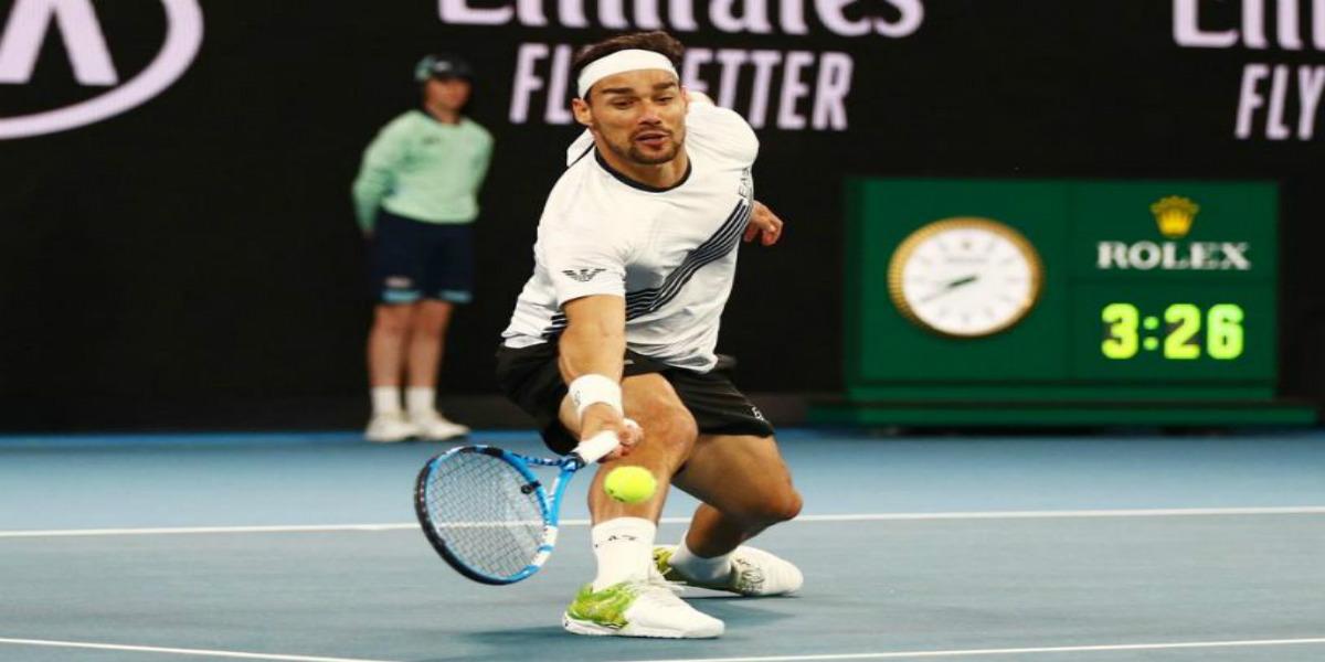 صورة لاعب التنس الإيطالي فونيني يخضع لجراحة في كاحليه