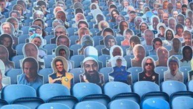 صورة صورة بن لادن في المدرجات تجتاح مواقع التواصل الاجتماعي