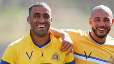 """صورة الثنائي المغربي في طريقه لتحقيق رقم """"غير مسبوق"""" مع النصر"""