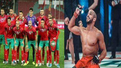 صورة أبو زعيتر يُصارع نجم المنتخب المغربي- فيديو