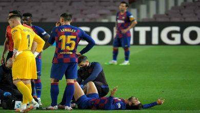 صورة إصابة بيكي تضع برشلونة في ورطة قبل مواجهة إشبيلية