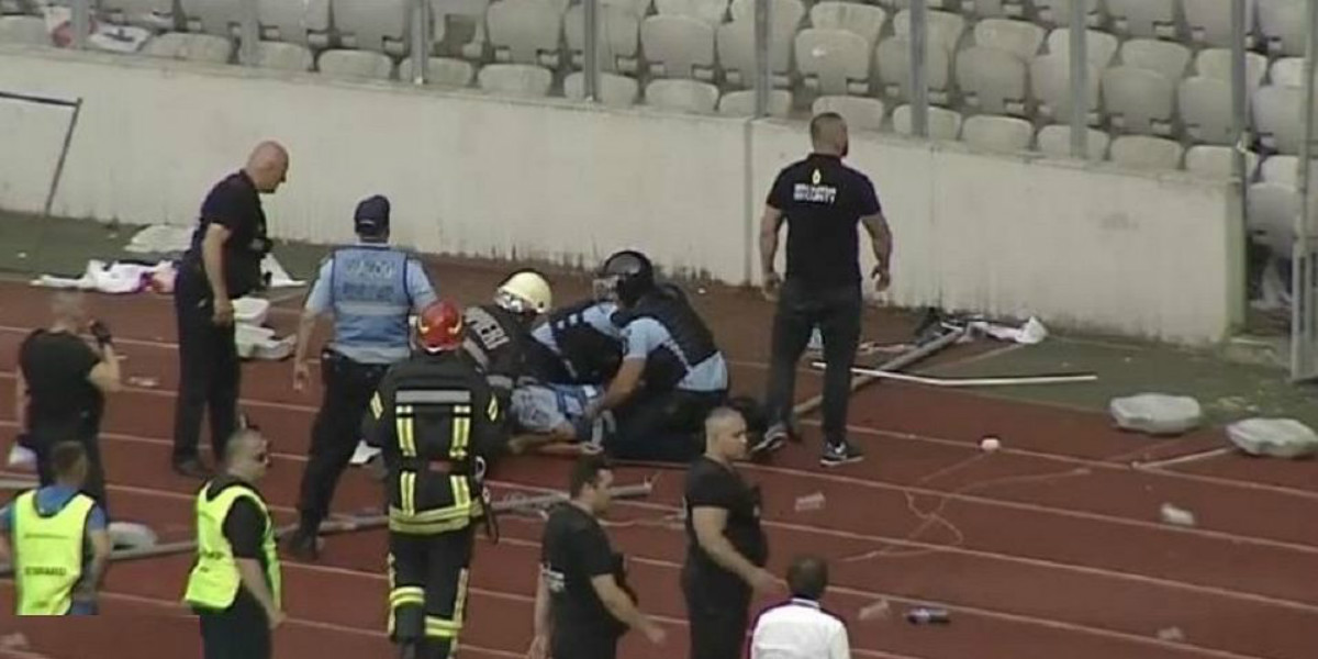 صورة سجن مشجع روماني لمحاولة قتل شرطي