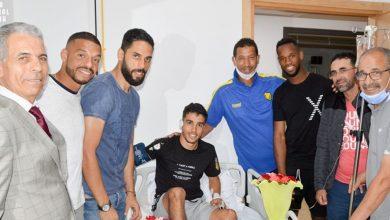 صورة حسنية أكادير يخصص زيارة خاصة للاعب فريق المغرب الفاسي