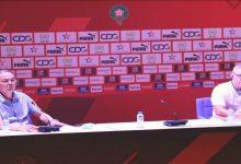 صورة لقجع وأوشن يجتمعان مع أطر ومديري أقسام الإدارة التقنية الوطنية