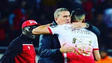 صورة بعد رحيله عن الفريق.. الناهيري يشكر غاريدو ويثير جدل أنصار الوداد