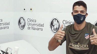 صورة سواريز يجري الفحص الطبي تمهيدا للتوقيع مع أتلتيكو مدريد
