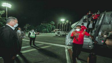 صورة وصول بعثة الأهلي لمطار محمد الخامس بالبيضاء- فيديو