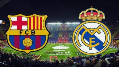 """صورة ملخص """"كلاسيكو"""" برشلونة وريال مدريد"""