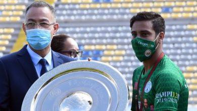 """صورة فوزي لقجع: """"لي الشرف أن أحضر حفل تسليم درع البطولة للرجاء"""""""