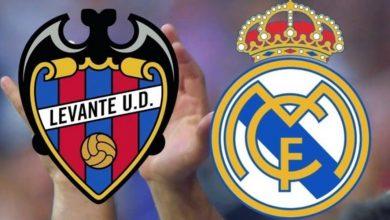 صورة ملخص مباراة ليفانتي وريال مدريد