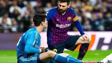 """صورة حارس ريال مدريد: """"أفضِل استمرار ميسي في برشلونة لأنه الأفضل"""""""